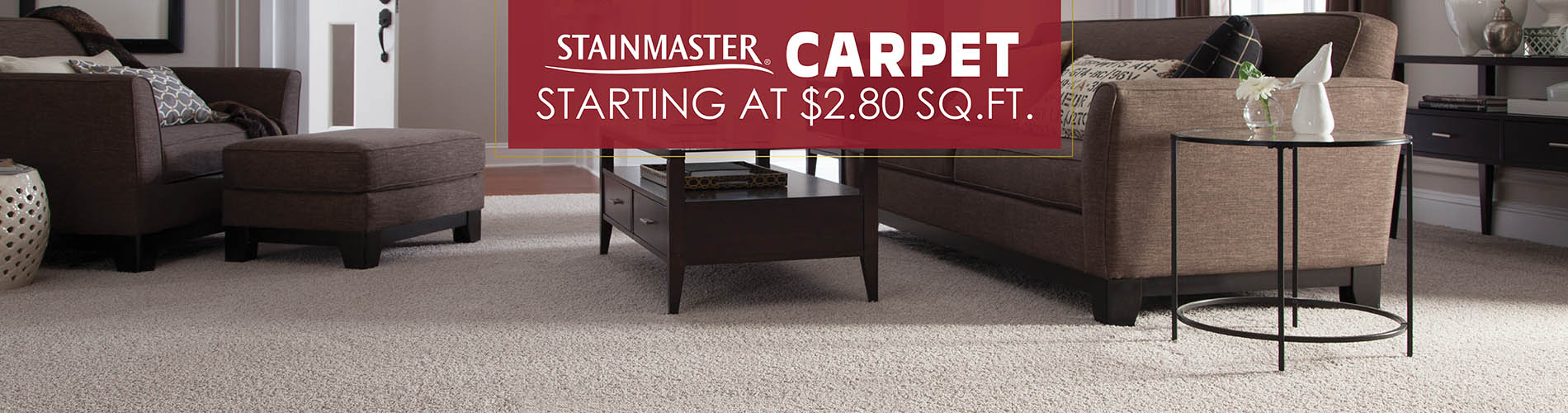 Stainmaster carpet on sale starting at $2.80 sq.ft.