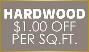 $1.00 off per sq.ft. of Reward Flooring Hardwood this month only!